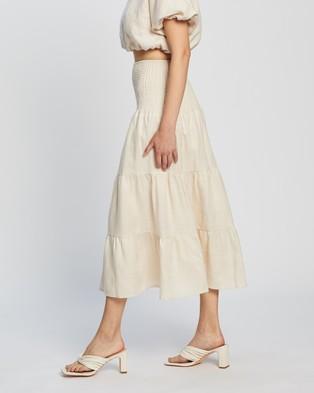 AERE Smocked Skirt - Skirts (Cream)