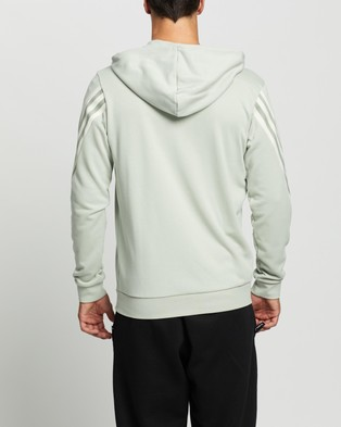 adidas Performance 3 Stripes Tape Full Zip Hoodie - Hoodies (Halo Green)