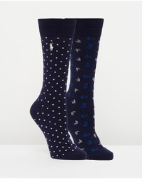 Polo Ralph Lauren - Anchors & Dots Socks 2-Pack