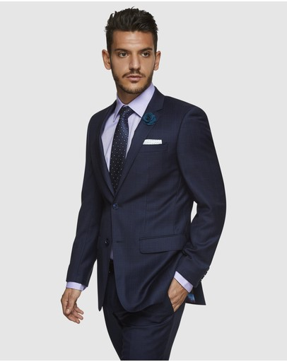 Kelly Country Savile Row Abram Check Suit Set Navy