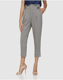 Oxford - Evie Paperbag Check Pants
