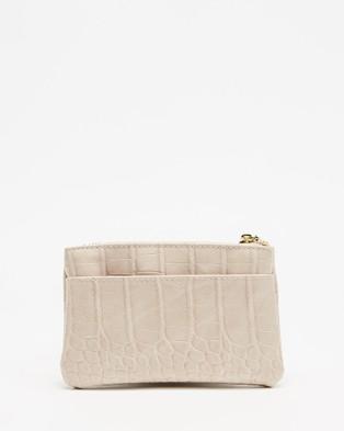 PETA AND JAIN Bardot Coin Purse - Bags (Nude Croc)
