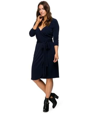 Embody Denim – Royal Wrap Dress – Dresses (Indigo)