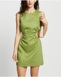 Dazie - Abby Cut Out Linen Blend Dress