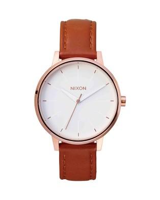 Nixon - Kensington Leather Watch - Watches (Rose Gold) Kensington Leather Watch