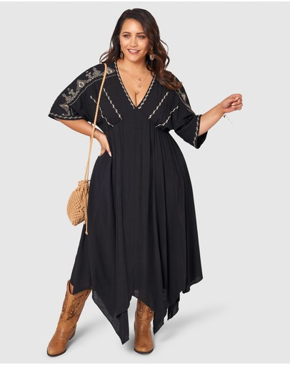 The Poetic Gypsy Above Stars Dress Black Neutral