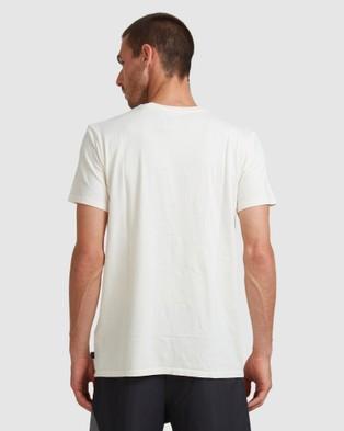 Quiksilver Mens Script T Shirt - T-Shirts & Singlets (WHITE ALYSSUM)