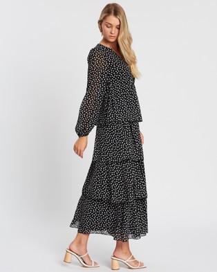 Atmos&Here - Boston Maxi Dress - Printed Dresses (Black) Boston Maxi Dress