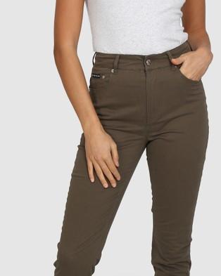 BY.DYLN Jensen Jeans - Mom Jeans (Khaki)