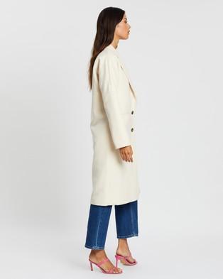Dazie Longline Coat - Coats & Jackets (Cream)