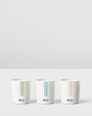 Aery Living Tokyo Votive 3 Candle Gift Set Feng Shui - Candles (Blue)