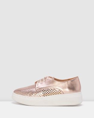Rollie Derby City Shoes - Wedges (Rose Gold)