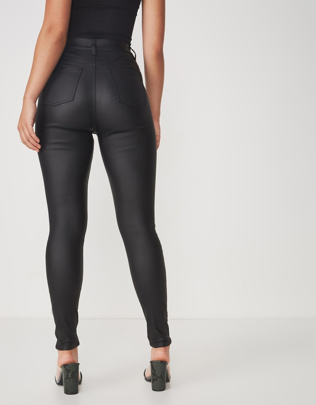 Women The Super Skinny Coated Jeans