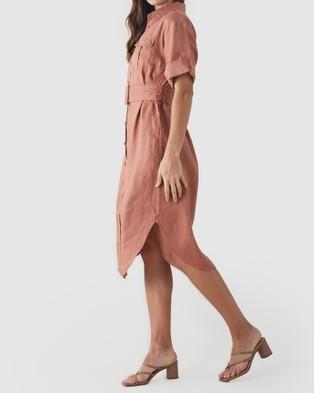 Amelius Provence Linen Shirt Dress - Dresses (Pink)