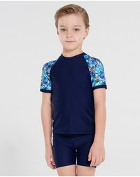 Aqua Blu Kids - Sebastian Short Sleeve Rash Vest - Kids