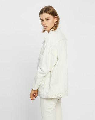 Factorie - Oversized Denim Jacket jacket (Ecru)