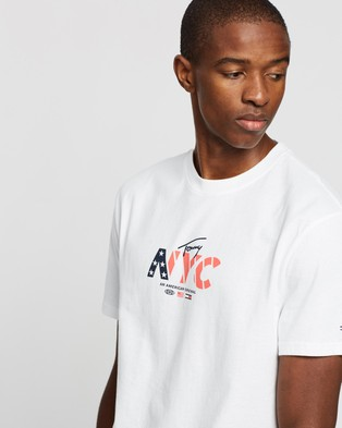 Tommy Jeans NYC Small Logo Tee - T-Shirts & Singlets (White)