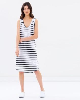 Assembly Label – Coastline Stripe Dress White
