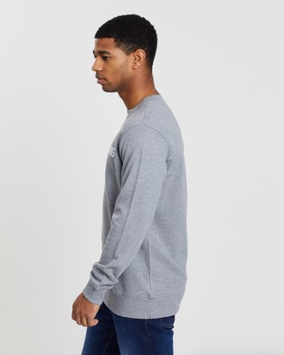 Calvin Klein Jeans Core Institutional Sweater - Sweats (Grey Heather)