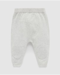 Purebaby - Knee Patch Knit Leggings - Babies