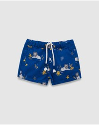 Purebaby - Resting Lion Shorts - Babies-Kids