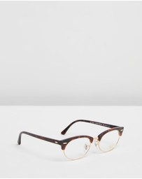 Ray-Ban Optical - Clubmaster Oval Optics