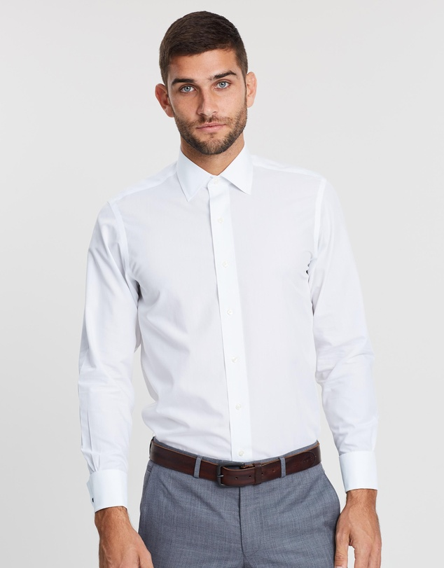 BROOKS BROTHERS - Milano Slim-Fit French Cuff Dress Shirt
