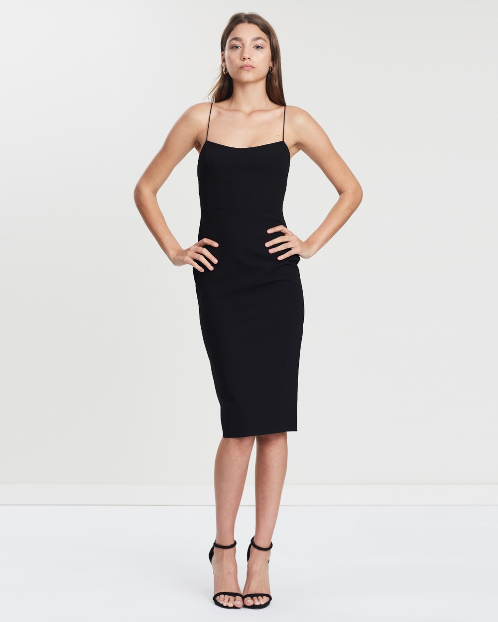 Photo of Alex Perry Black Zane Stretch Singlet Lady Dress - buy Alex Perry dresses on sale online