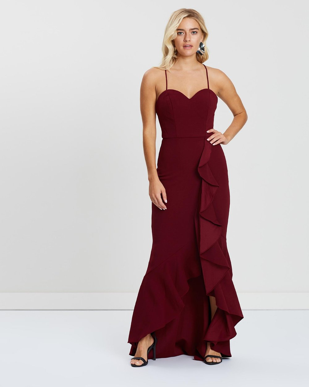d01ceece Margaux Ruffle Midi Dress by Bariano Online | THE ICONIC | Australia