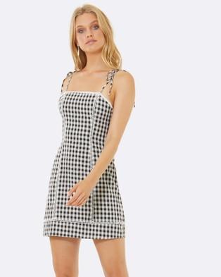 Calli – Vicky Tie Up Mini Dress Black
