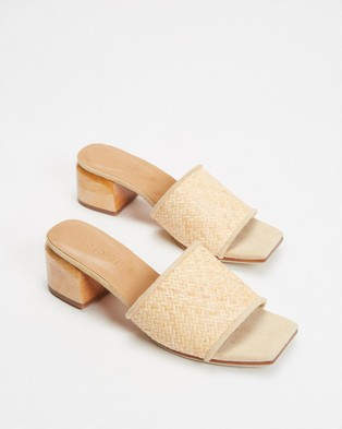 JAMES | SMITH The Sicily Slide Woven Mules - Sandals (Woven)