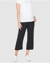 Soon Maternity - Classic Crop Maternity Pants