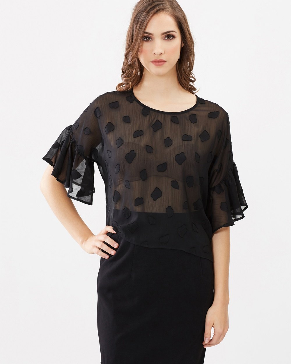 Honey and Beau Paradise Top Tops Black Paradise Top