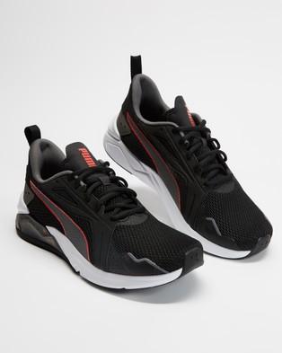 Puma LQDCELL Method   Men's - Performance Shoes (Puma Black, Castlerock & Poppy Red)