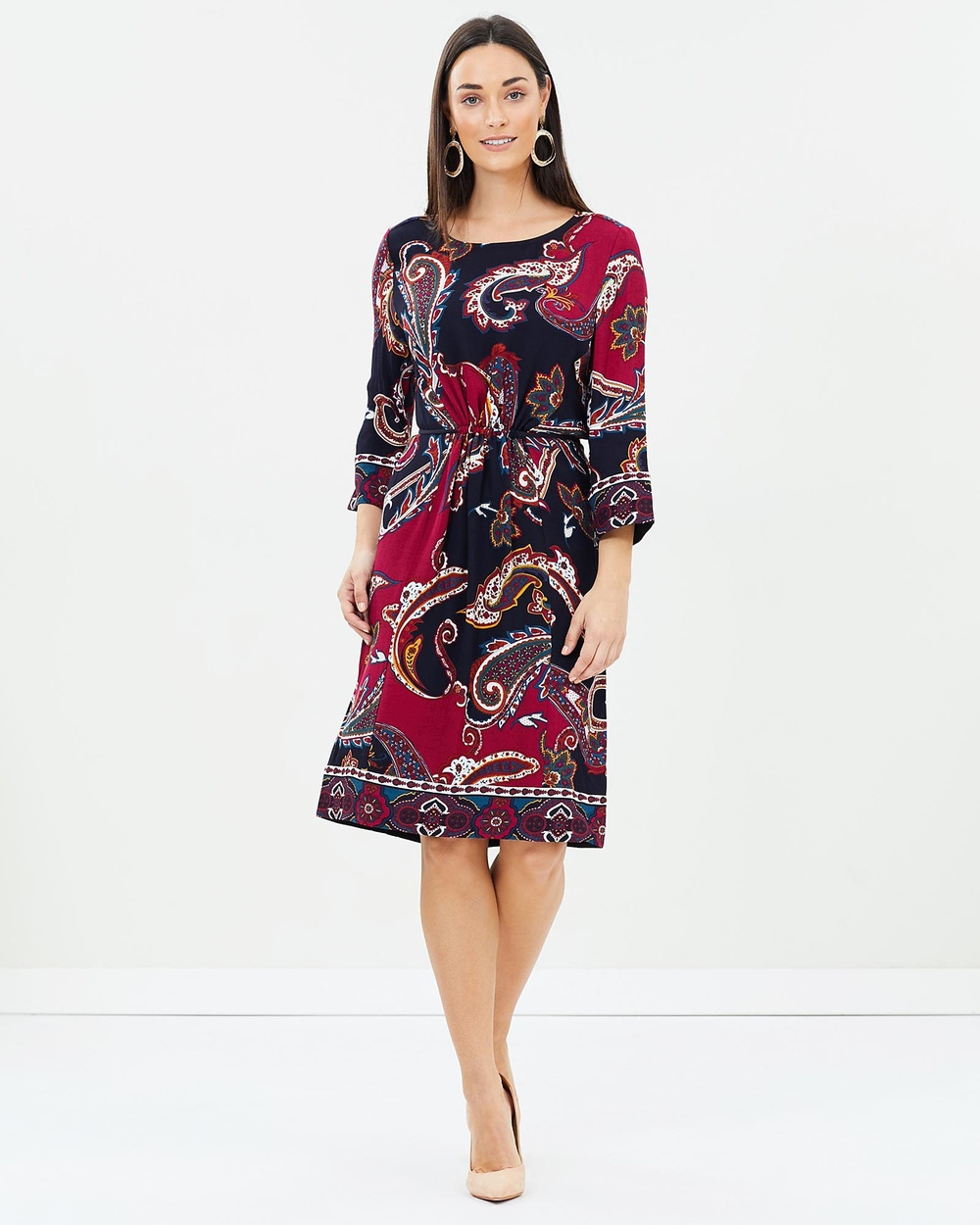 Sportscraft Caprice Paisley Dress Dresses Navy Multi Caprice Paisley Dress