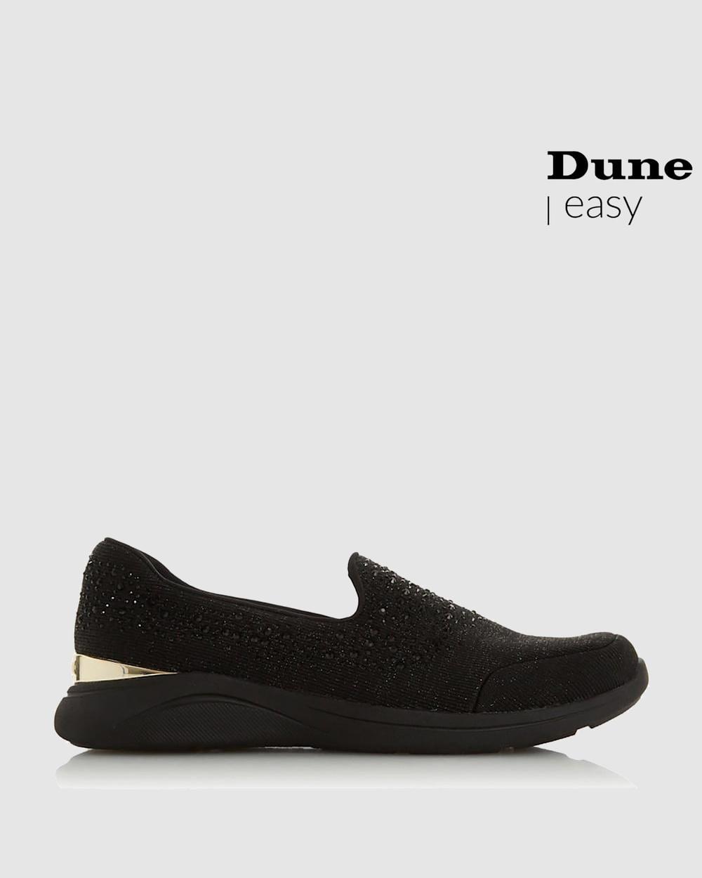Dune London Easy Slipper Cut Slip-On Sneakers Black