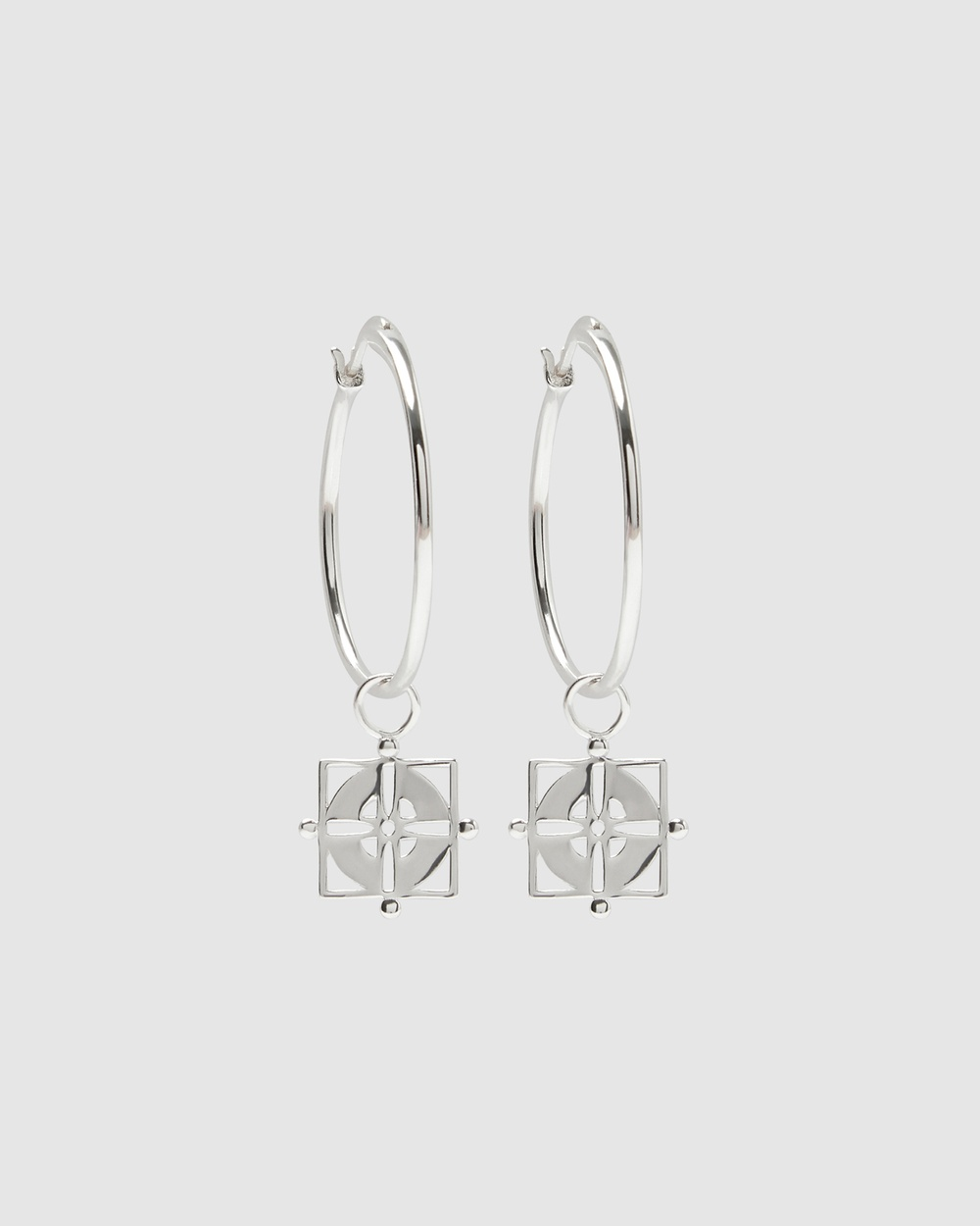 Pastiche Willow Hoops Jewellery Silver