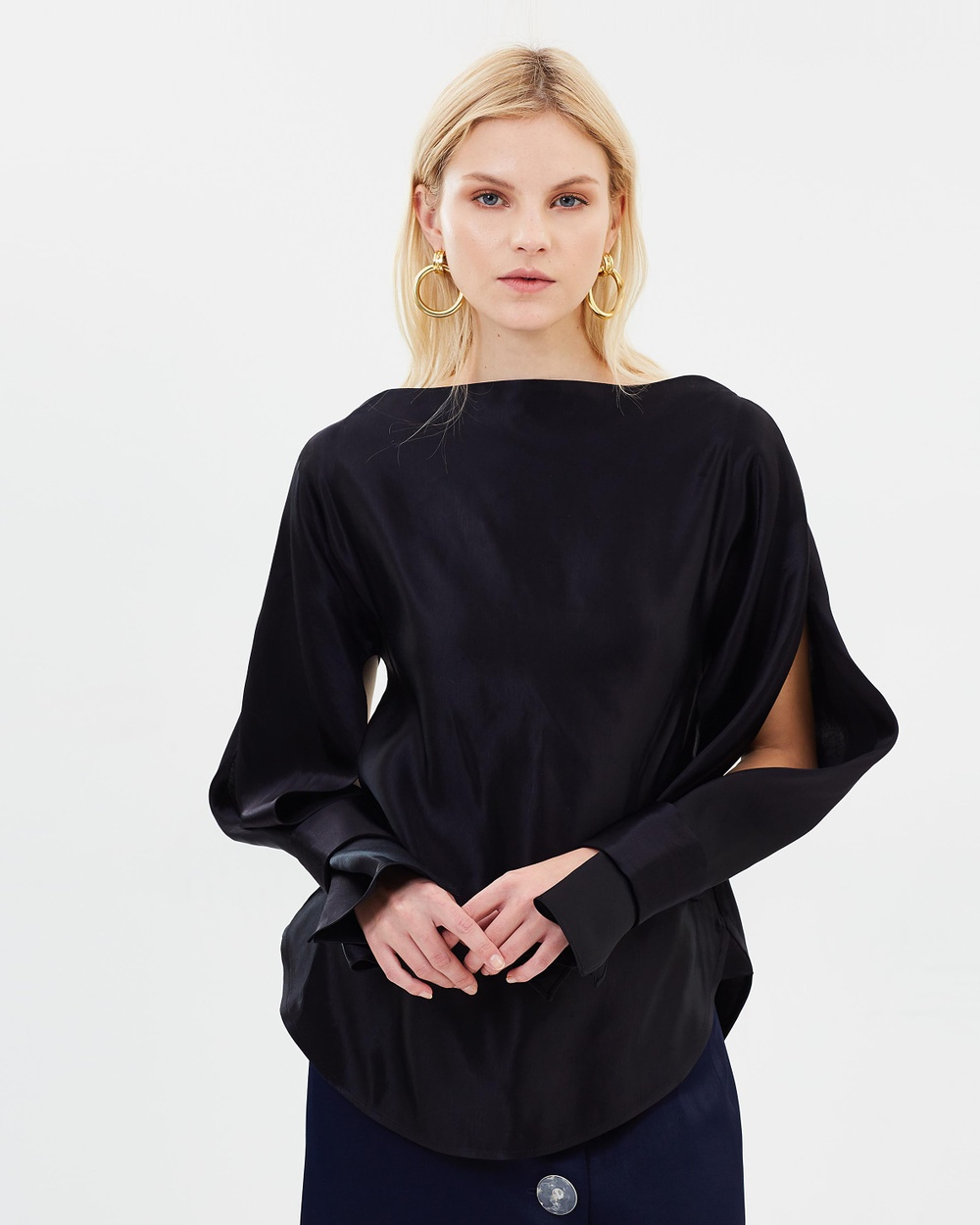 Christopher Esber Ilona Blouse Tops Black Ilona Blouse