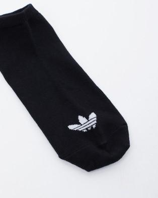 adidas Originals Trefoil Liner Socks 3 Pack - Underwear & Socks (Black & White)