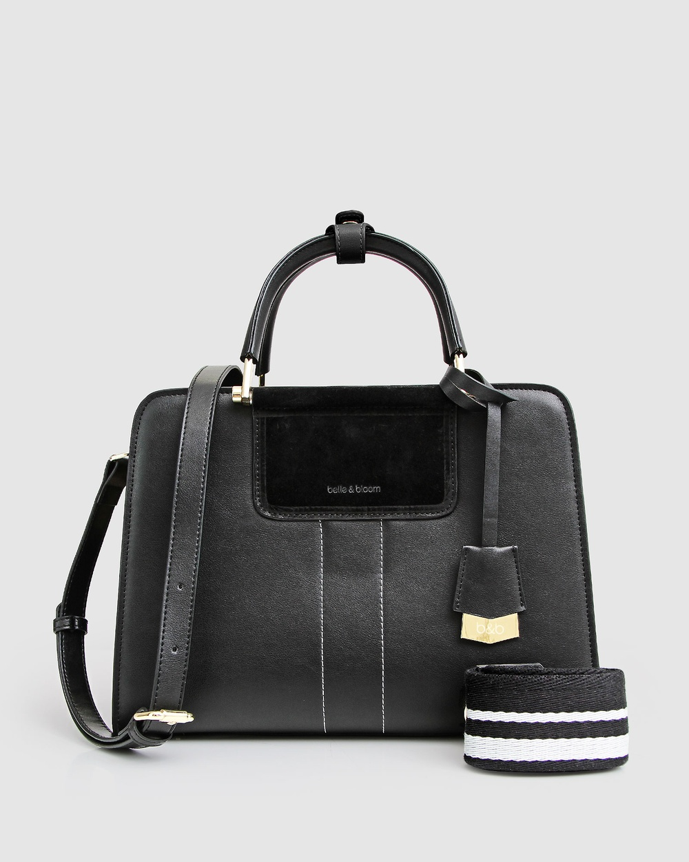 Belle & Bloom Almost Famous Leather Satchel Bags Black