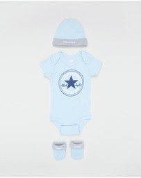 Converse - Classic 3-Piece Infant Hat, Bodysuit & Bootie Set - Babies