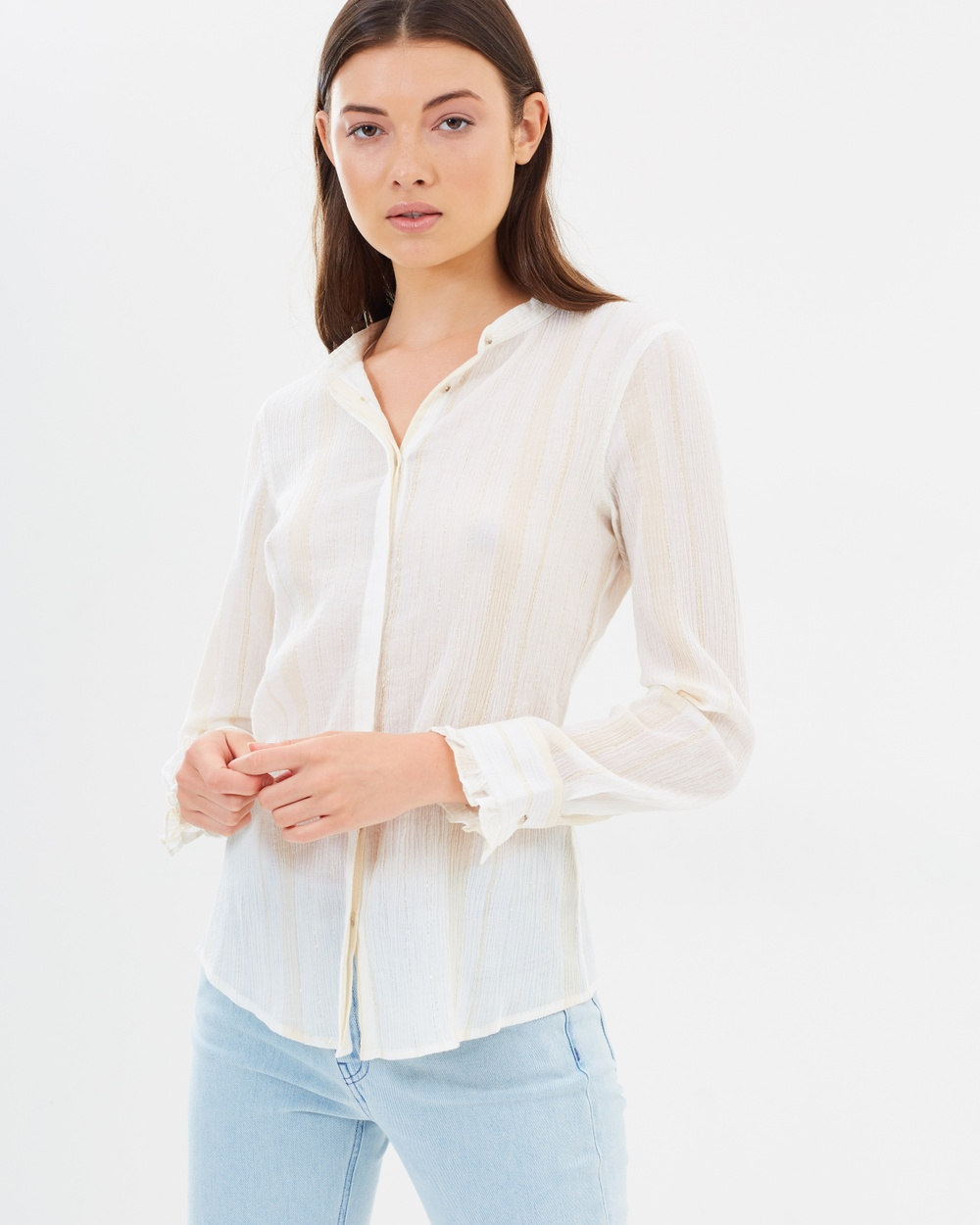M.I.H Miles Shirt Tops White, Stone & Gold Miles Shirt