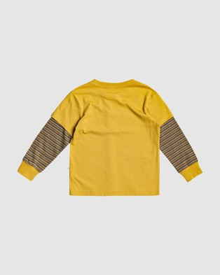 Quiksilver - Boys 2 7 Shred That Double Sleeve T Shirt - T-Shirts & Singlets (HONEY) Boys 2-7 Shred That Double Sleeve T Shirt