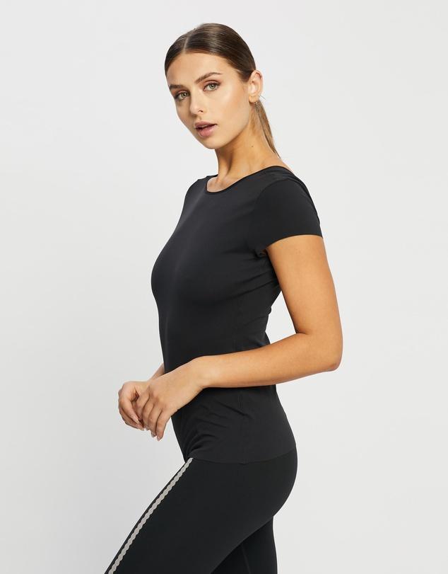 Women Yoga Luxe Short Sleeve Top