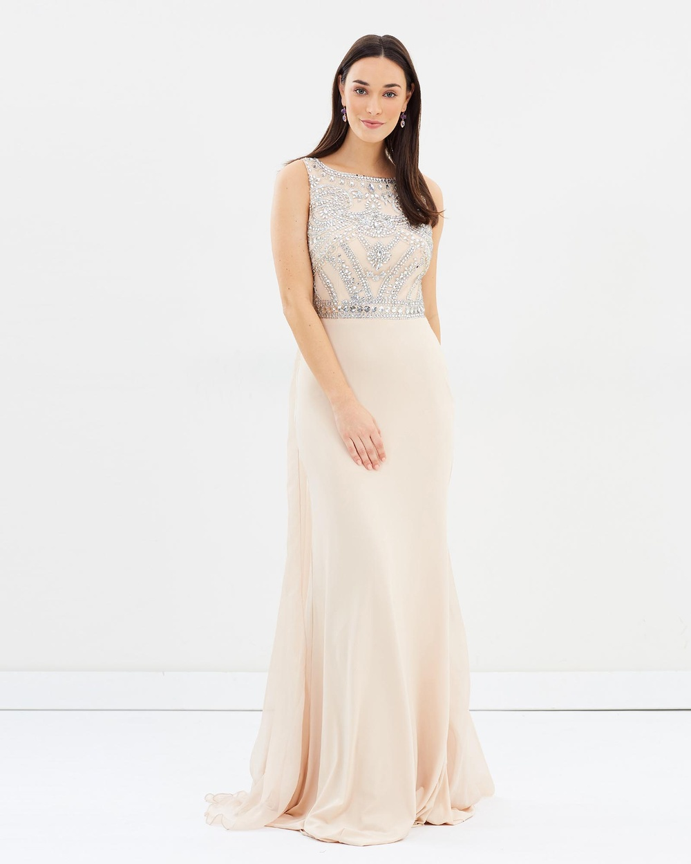 ROXCIIS Nude Willow Gown