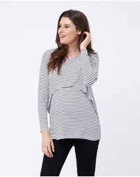 Ripe Maternity - Swing Back Stripe Nursing Top