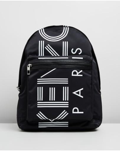 Kenzo Logo Backpack Black