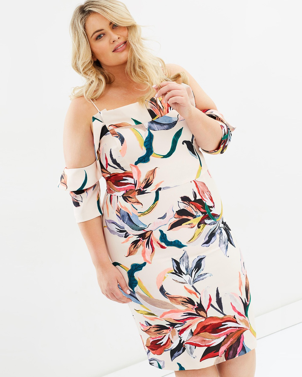 Cooper St CS CURVY Gigi Flounce Dress Dresses Print CS CURVY Gigi Flounce Dress