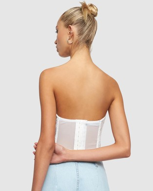 Lioness The Plaza Bustier - Tops (White)