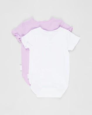 Bonds Baby Wonderbodies Short Sleeve Bodysuit 2 Pack   Babies - Bodysuits (Panda Bear White & Rhinestone)